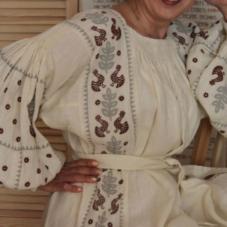 Сорочка Волошка з брижами