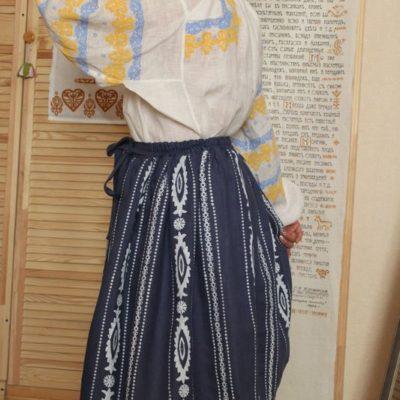 Сорочка з криляцями (Поділля та Полтавщина) та спідниця