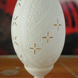 Втравлювання-вирізування на гусячому яйці
